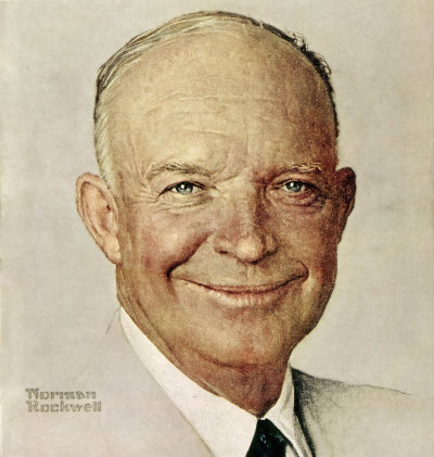 The October 11, 1952 Saturday Evening Post cover by Norman Rockwell entitled Portrait of Dwight D Eisenhower