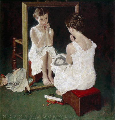 oNorman Rockwell: Girl at Mirror