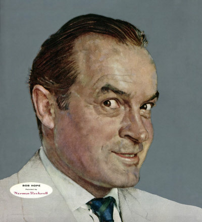 The February 13, 1954 Saturday Evening Post cover by Norman Rockwell entitled Portrait of Bob Hope