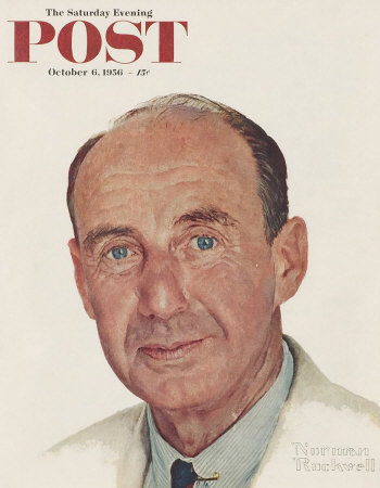 The October 6, 1956 Saturday Evening Post cover by Norman Rockwell entitled Portrait of Adlai E. Stevenson