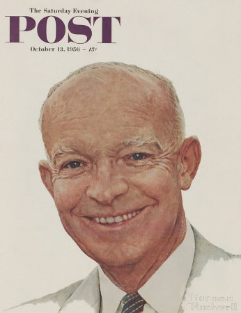 The October 13, 1956 Saturday Evening Post cover by Norman Rockwell entitled Portrait of Dwight D. Eisenhower
