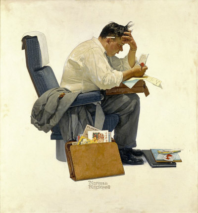 The November 30, 1957 Saturday Evening Post cover by Norman Rockwell entitled The Expense Account