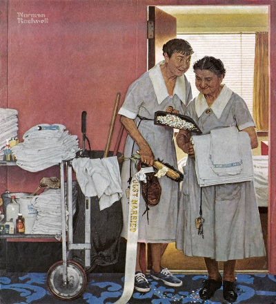 The June 29, 1957 Saturday Evening Post cover by Norman Rockwell entitled Just Married
