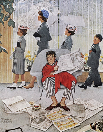 The May 16, 1959 Saturday Evening Post cover by Norman Rockwell entitled Easter Morning