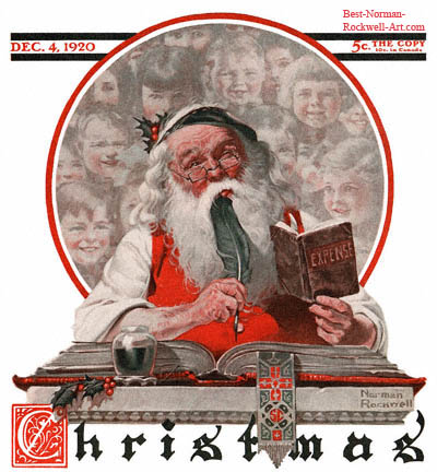 Norman Rockwell Santa and Expense Book