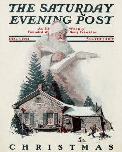 Norman Rockwell Santa's Christmas List