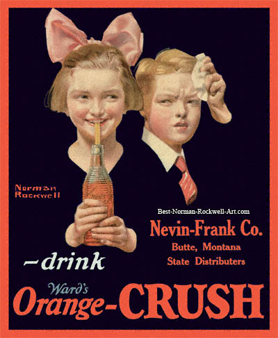 Orange Crush advertisement by Norman Rockwell entitled Young Girl with Orange Crush