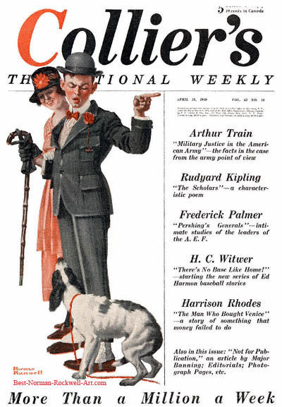 The Tagalong by Norman Rockwell appeared on Collier's cover April 19, 1919