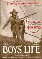 Scouting with Daniel Boone from the June 1914 Boys' Life cover