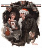 Man Playing Santa from the December 9, 1916 Saturday Evening Post cover