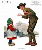 Norman Rockwell's Polley Vous Fransay from the November 22, 1917 Life Magazine cover