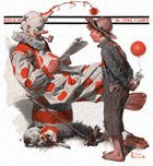 Clown and Boy from the May 18, 1918 Saturday Evening Post cover