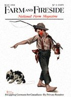 Norman Rockwell's Go Home from the May 1918 Farm And Fireside cover