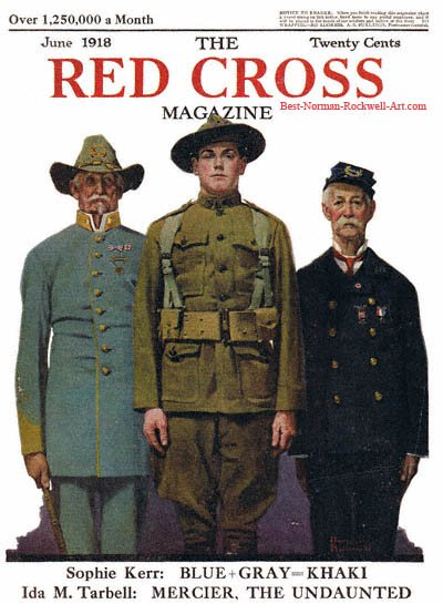 Veterans of Two Wars by Norman Rockwell appeared on Red Cross cover June 1918