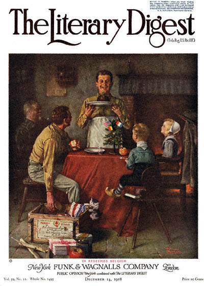 In Redeemed Belgium by Norman Rockwell from the December 14, 1918 issue of The Literary Digest