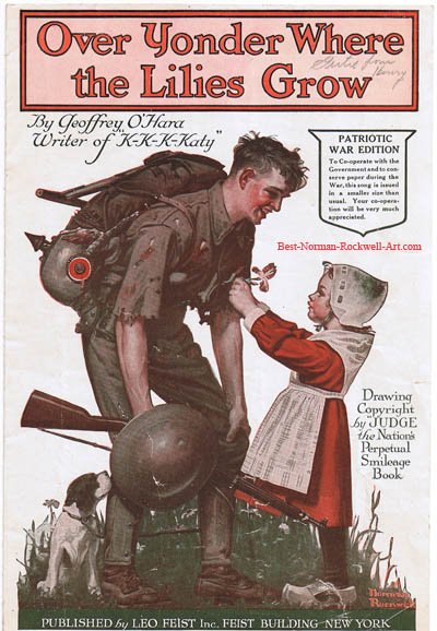 cover of Over Yonder Where the Lilies Grow by Norman Rockwell first appeared on Judge cover 1918
