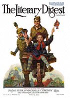 Norman Rockwell's Smiles in Belgium Once More from the April 19, 1919 Literary Digest cover