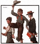 Norman Rockwell's Vacation from the June 21, 1919 Country Gentleman cover