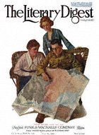 Norman Rockwell's Taking Mother Over the Top from the July 26, 1919 Literary Digest cover