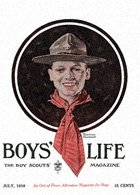 Head of a Boy Scout from the July 1919 Boys' Life cover