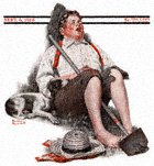 Boy Asleep With Hoe from the September 6, 1919 Saturday Evening Post cover