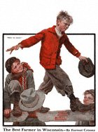 Norman Rockwell's Foller the Leader from the November 15, 1919 Country Gentleman cover