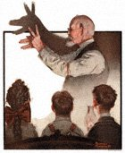 Norman Rockwell's Shadow Artist from the February 7, 1920 Country Gentleman cover