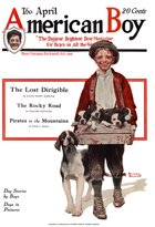 Norman Rockwell's Boxful of Puppies from the April 1920 American Boy cover