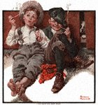 Norman Rockwell's Boys Smoking from the May 8, 1920 Country Gentleman cover