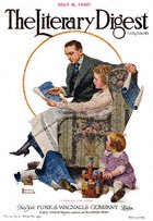 Norman Rockwell's Planning the Home from the May 8, 1920 Literary Digest cover