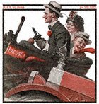 Trio in Early Motor Car from the July 31, 1920 Saturday Evening Post cover