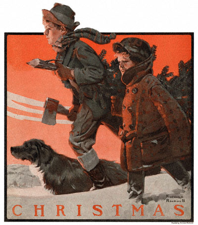 Norman Rockwell's 'Christmas' appeared on the cover of The Country Gentleman on 12/18/1920
