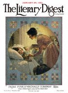 Norman Rockwell's Mother Tucking Children into Bed from the January 29, 1921 Literary Digest cover