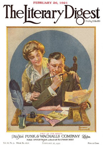 First of the Month by Norman Rockwell from the February 26, 1921 issue of The Literary Digest