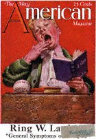 Norman Rockwell's Sleepy Scholar from the May 1921 American cover