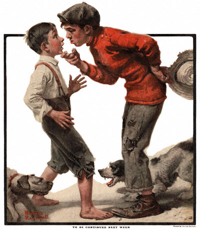 Norman Rockwell's 'Bully Before' from the 6/4/1921 issue of The Country Gentleman