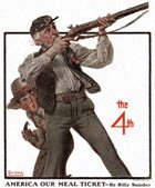 Norman Rockwell's Old Veteran And Boy from the July 2, 1921 Country Gentleman cover