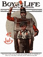 Fourth of July from the July 1921 Boys' Life cover