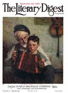Norman Rockwell's The Music Lesson from the September 24, 1921 Literary Digest cover