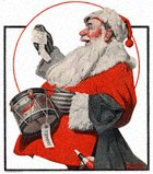 Norman Rockwell's A Drum for Tommy from the December 17, 1921 Country Gentleman cover
