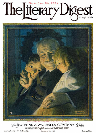 The Story of Christmas by Norman Rockwell from the December 24, 1921 issue of The Literary Digest