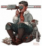 Boy With Stereoscope from the January 14, 1922 Saturday Evening Post cover
