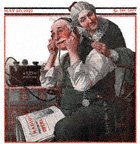 Old Couple Listening to Radio from the May 20, 1922 Saturday Evening Post cover