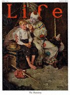 Norman Rockwell's The Runaway from the June 1, 1922 Life Magazine cover