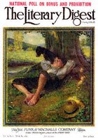 Norman Rockwell's Barefoot Boy Daydreaming from the July 29, 1922 Literary Digest cover