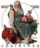 Santa with Elves from the December 2, 1922 Saturday Evening Post cover