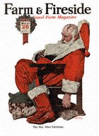 Norman Rockwell's Santa Napping from the December 1922 Farm And Fireside cover