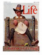 Norman Rockwell's Ye Glutton from the November 22, 1923 Life Magazine Thanksgiving cover