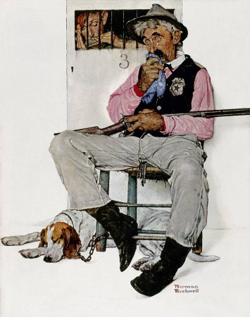The November 4, 1939 Saturday Evening Post cover by Norman Rockwell entitled Music Hath Charms