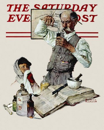 The March 18, 1939 Saturday Evening Post cover by Norman Rockwell entitled The Apothecary